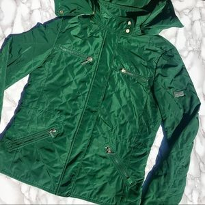 Zara Jacket Green with Gold Accents